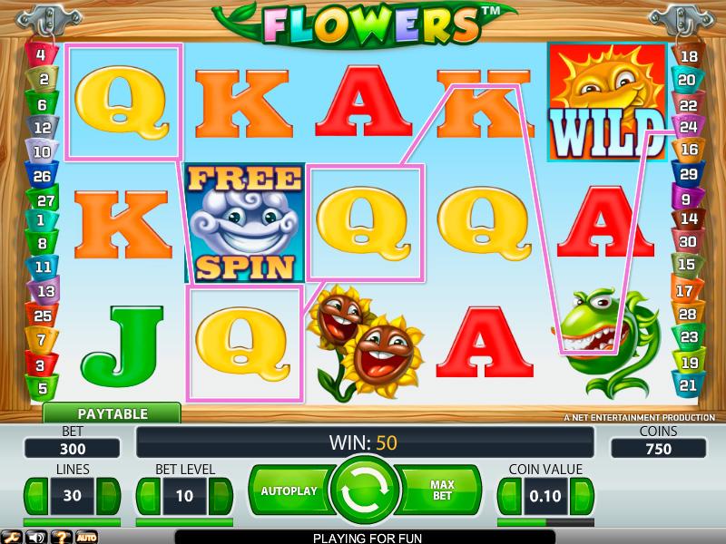 flowers spielautomat kostenlos spielen  die schönheit und