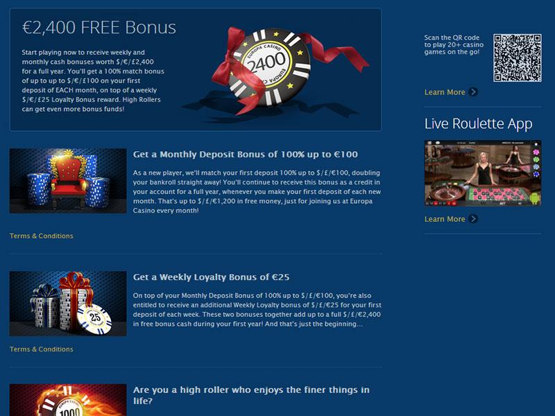 Europa Casino Bonus Agb