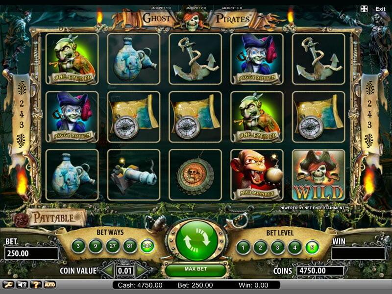 Ghost Pirates Spielautomat kostenlos spielen