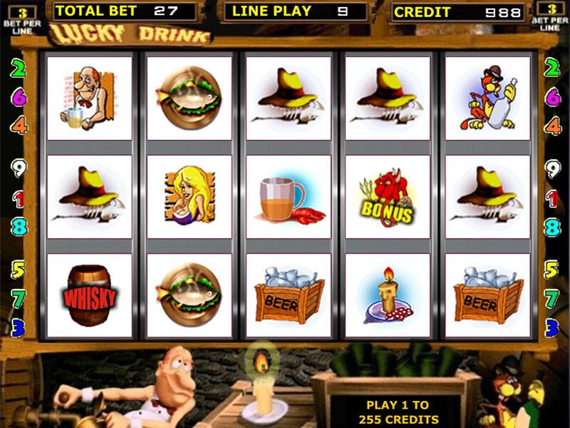 Lucky Drink Spielautomat kostenlos spielen