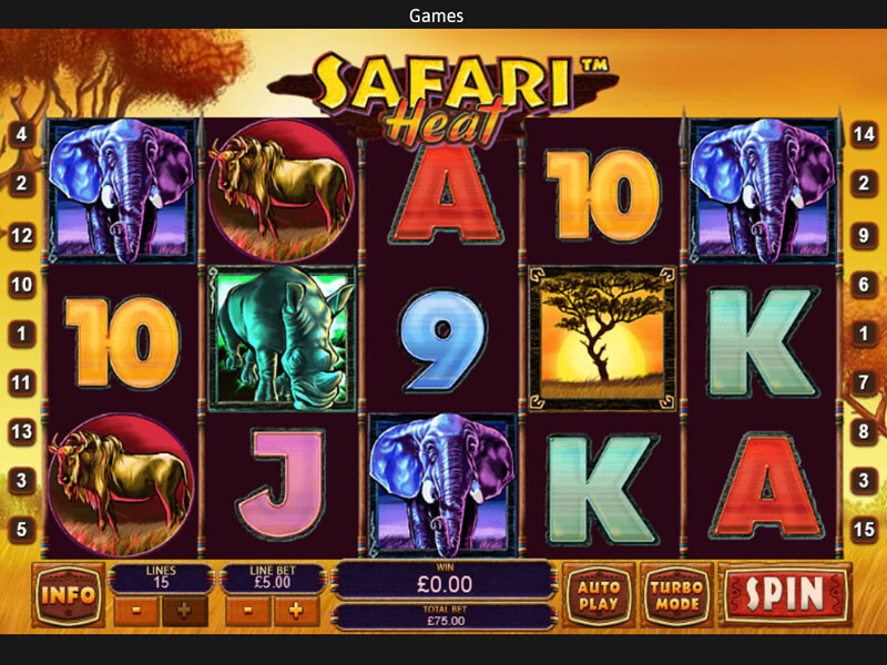 Safari Heat Spielautomat kostenlos spielen