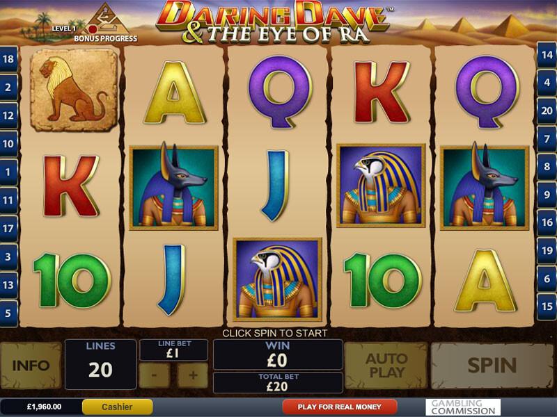 Daring Dave & The Eye Of Ra Spielautomat kostenlos spielen