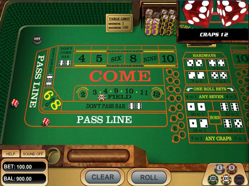 Craps online kostenlos spielen