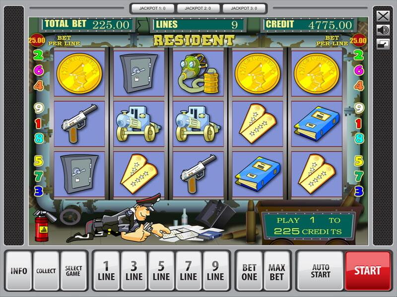 Resident Spielautomat kostenlos spielen