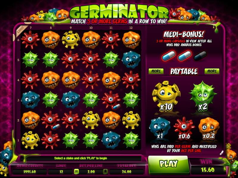 Germinator Spielautomat kostenlos spielen