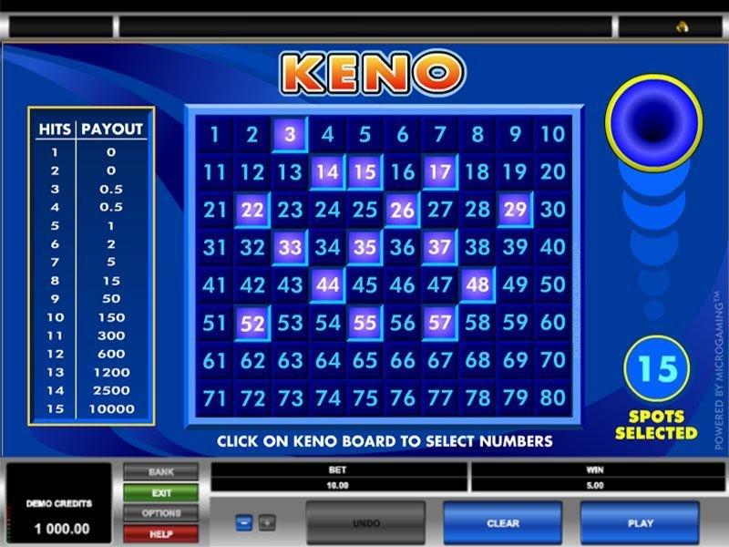 Keno online kostenlos spielen