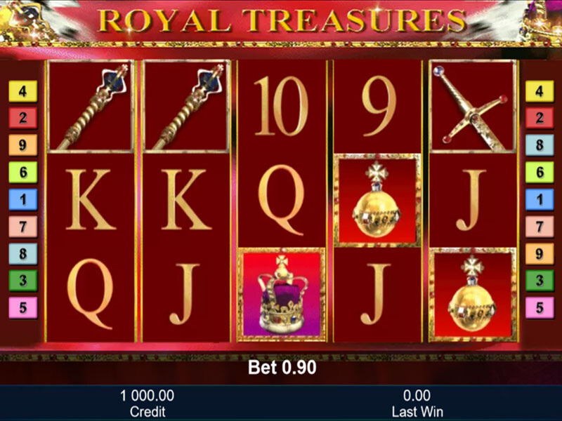 Royal Treasures Spielautomat kostenlos spielen